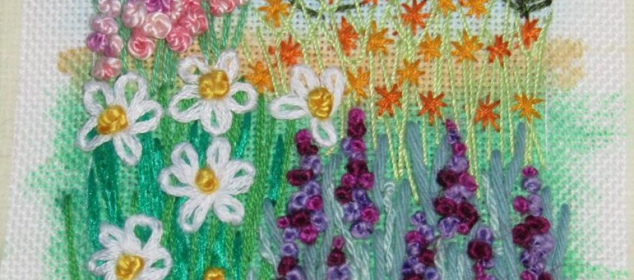 Raggedy Annie's Embroidered Cottage Garden Project Summer 2018